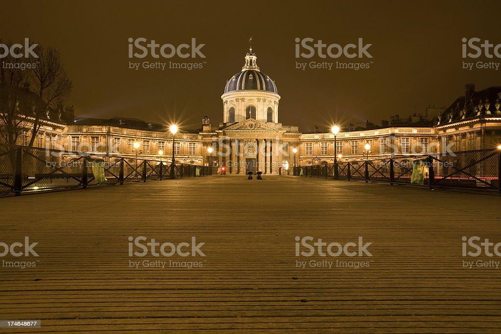 L'Institut De France and Pont des Arts Paris stock photo
