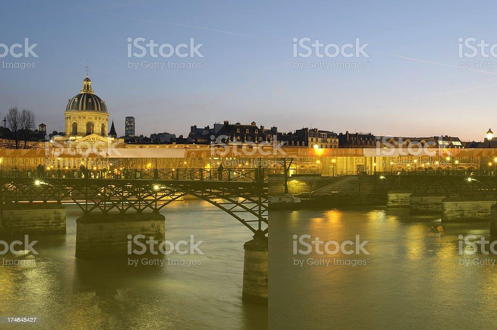 Institut de France and Pont des Arts stock photo