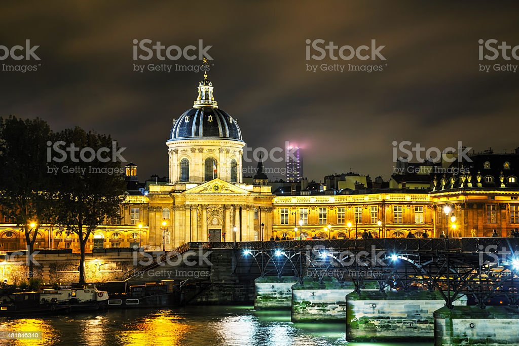 Institut de France building in Paris, France stock photo