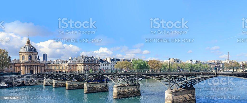 Institut de France  (20000x8335 px - Horizontal panoramic) stock photo