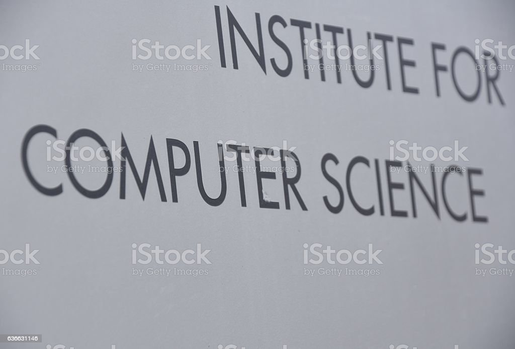 institute for computer science stock photo