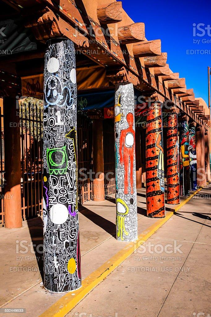 Institute of American Indian Arts building in Santa Fe NM stock photo