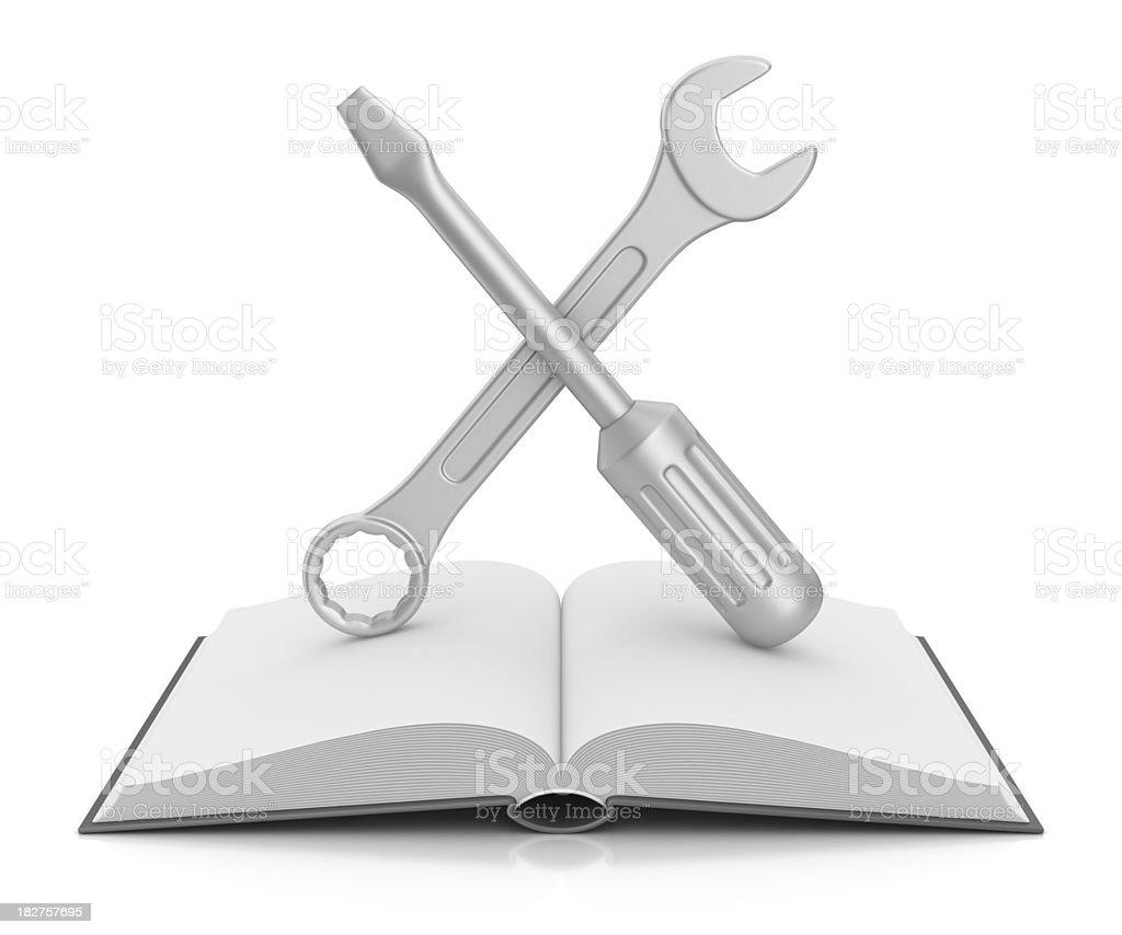 instruction book stock photo