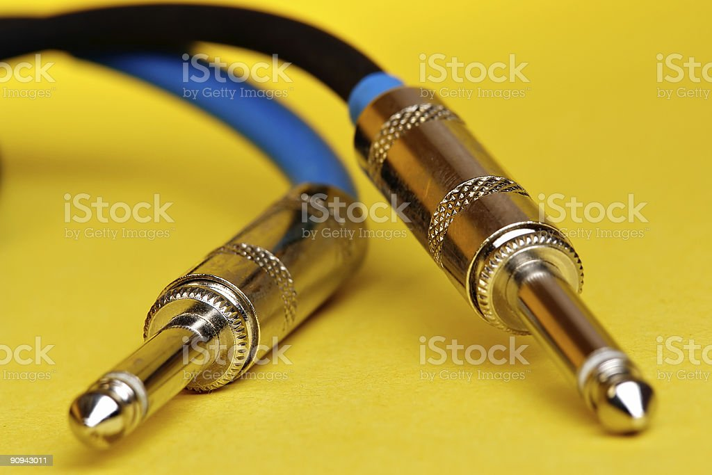 Instrument cables stock photo