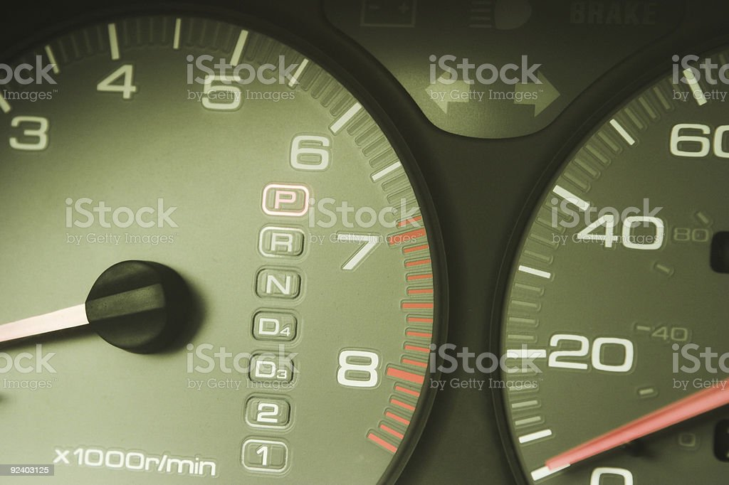 Instrument Cluster royalty-free stock photo