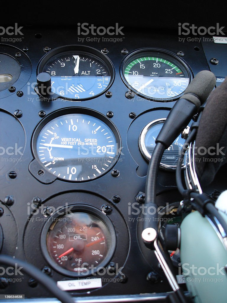 DR400 instrument panel royalty-free stock photo