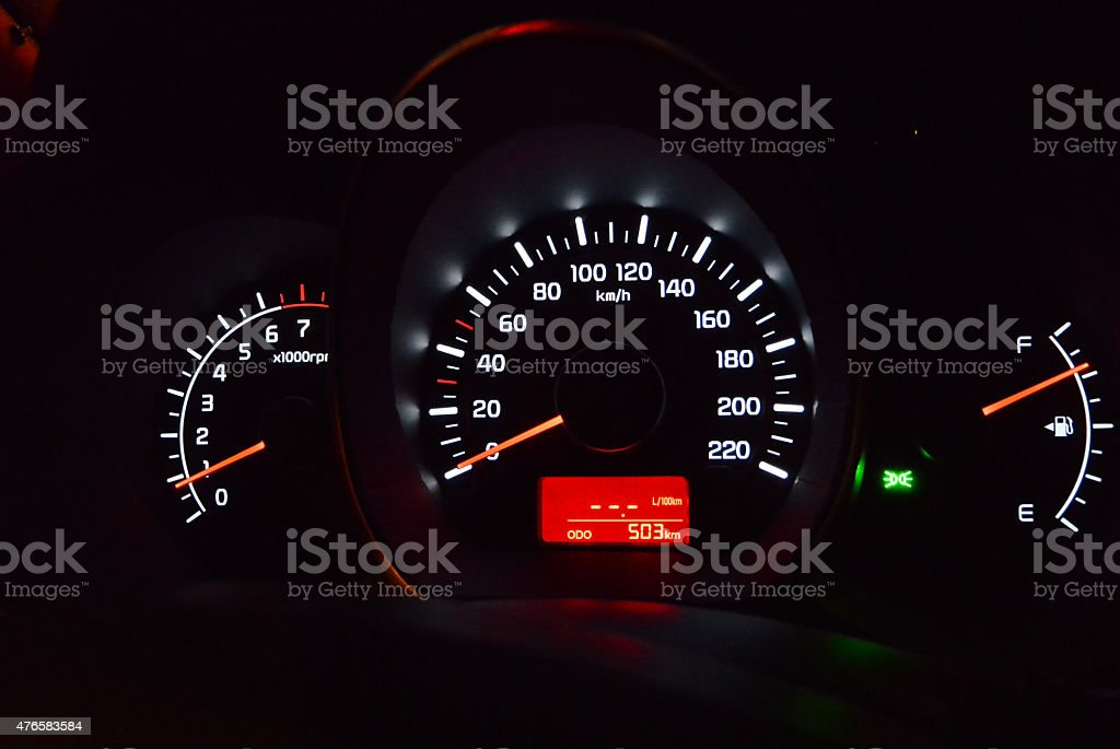 instrument panel stock photo