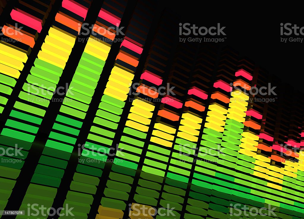Instrumental equalizer against black background stock photo