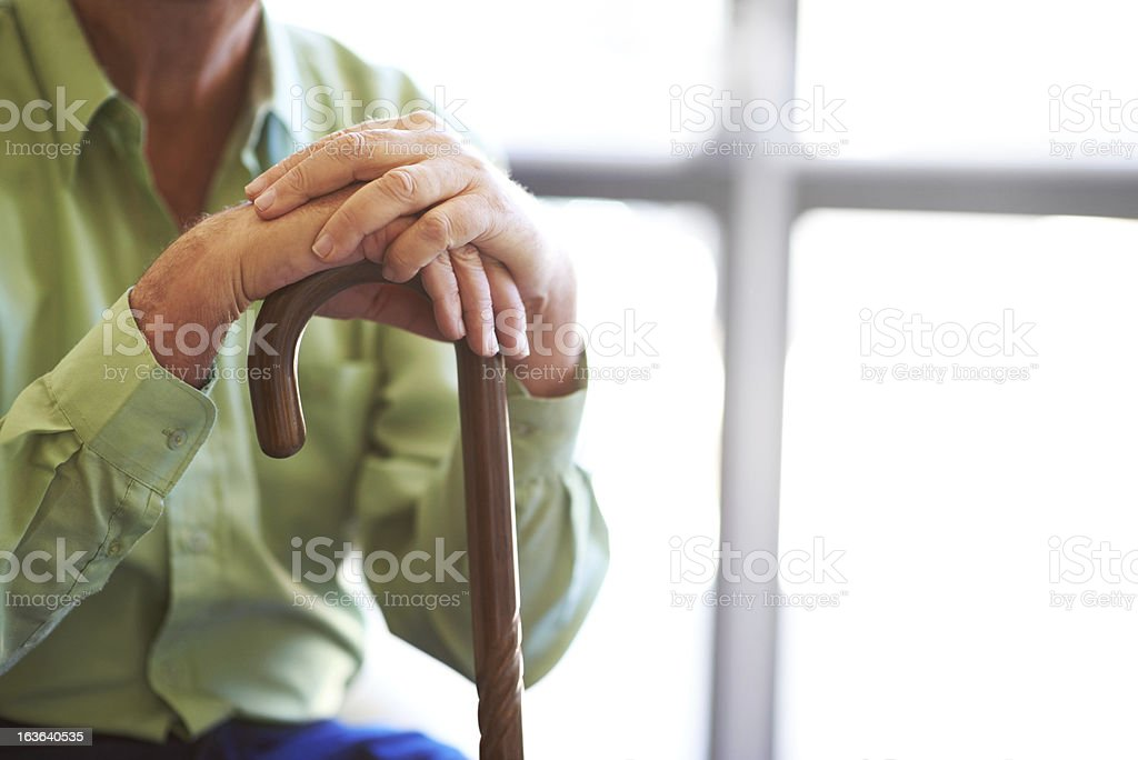 Instrumental in his recovery stock photo