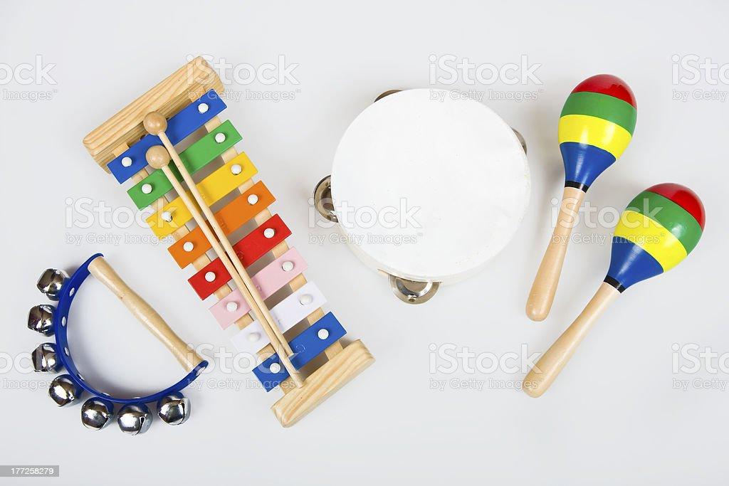 Instruments for children stock photo