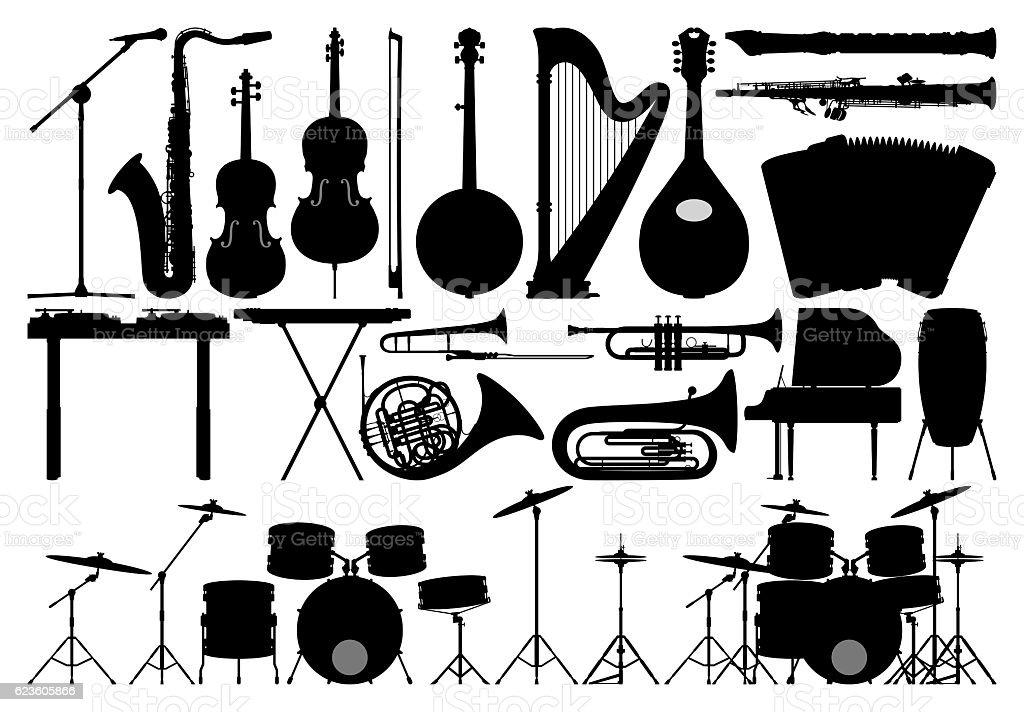 Instruments, Isolated on White stock photo