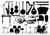 Instruments, Isolated on White
