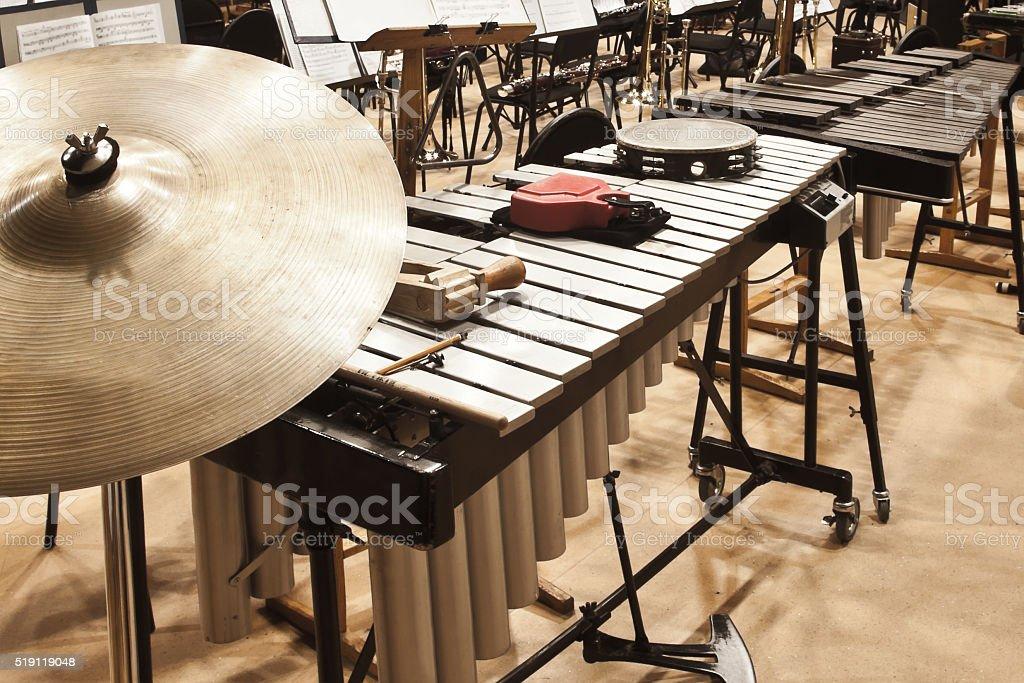 Instruments Symphony Orchestra stock photo