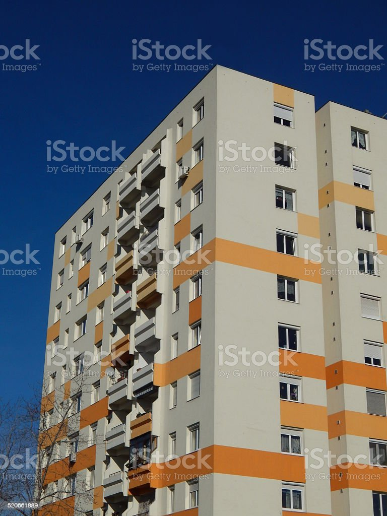 Insulated block of flats royalty-free stock photo
