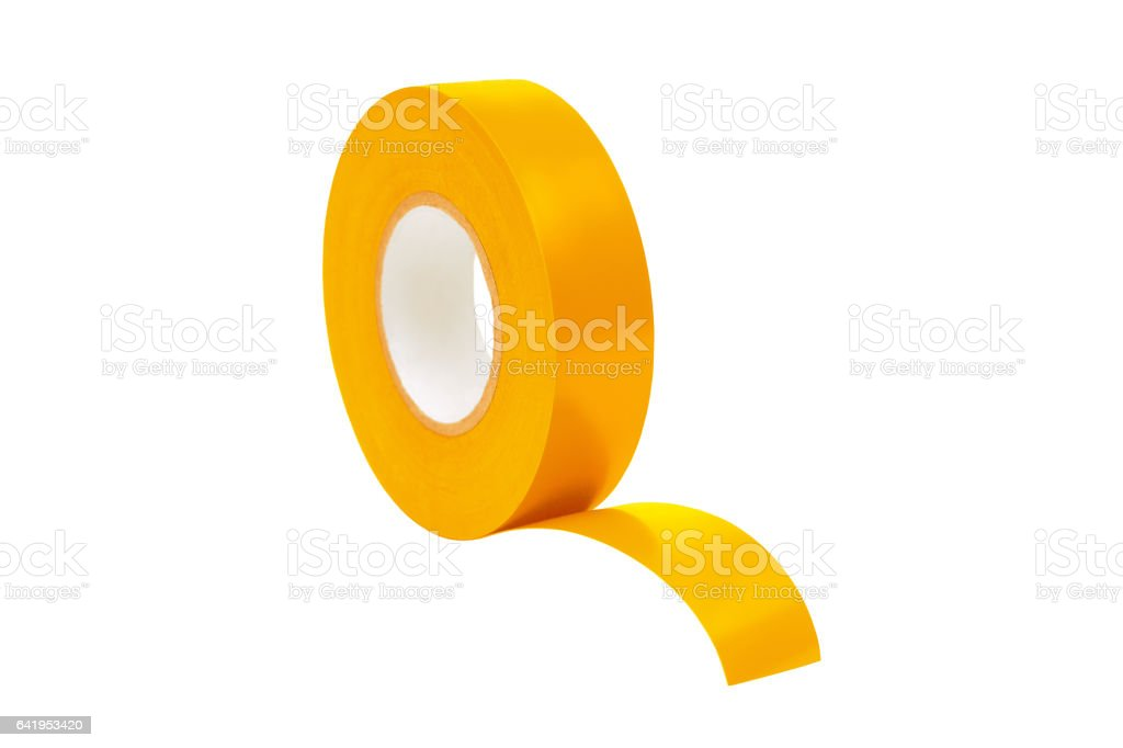 insulating tape for electrical insulation stock photo