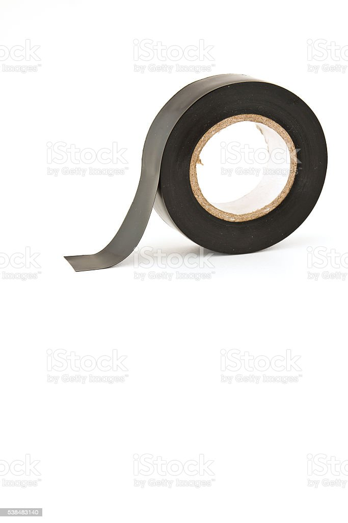 Insulating tape roll stock photo