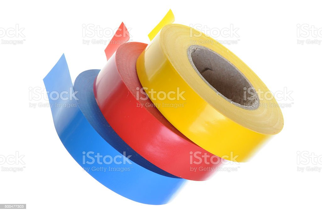 Insulating tapes stock photo