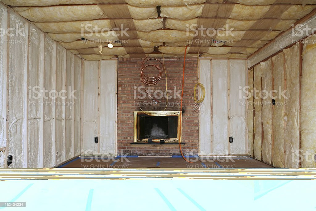 Insulation and Remodeling royalty-free stock photo