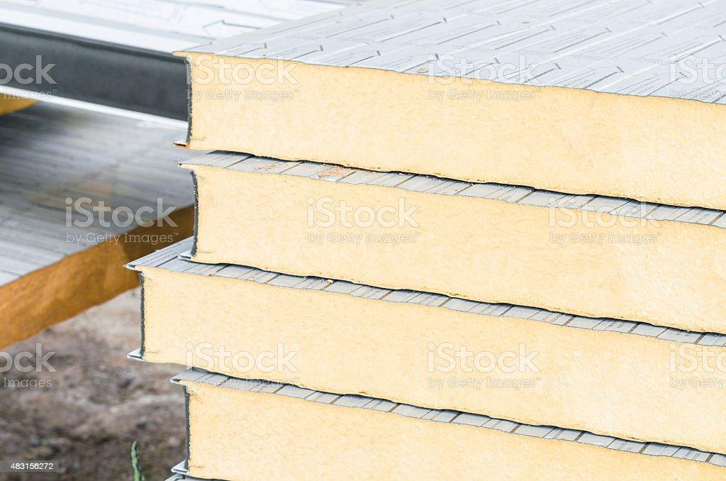Insulation Boards stock photo