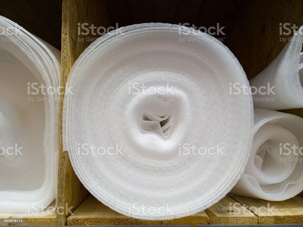 Insulation foam rubber. stock photo