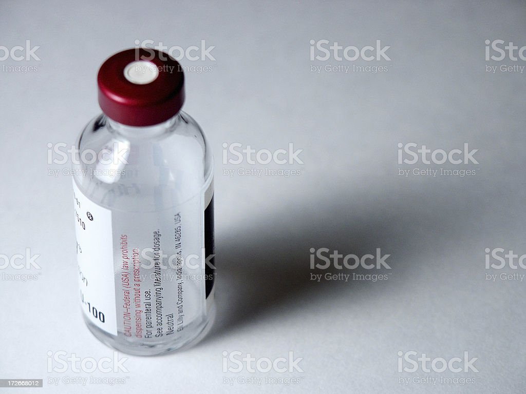 Insulin Bottle stock photo