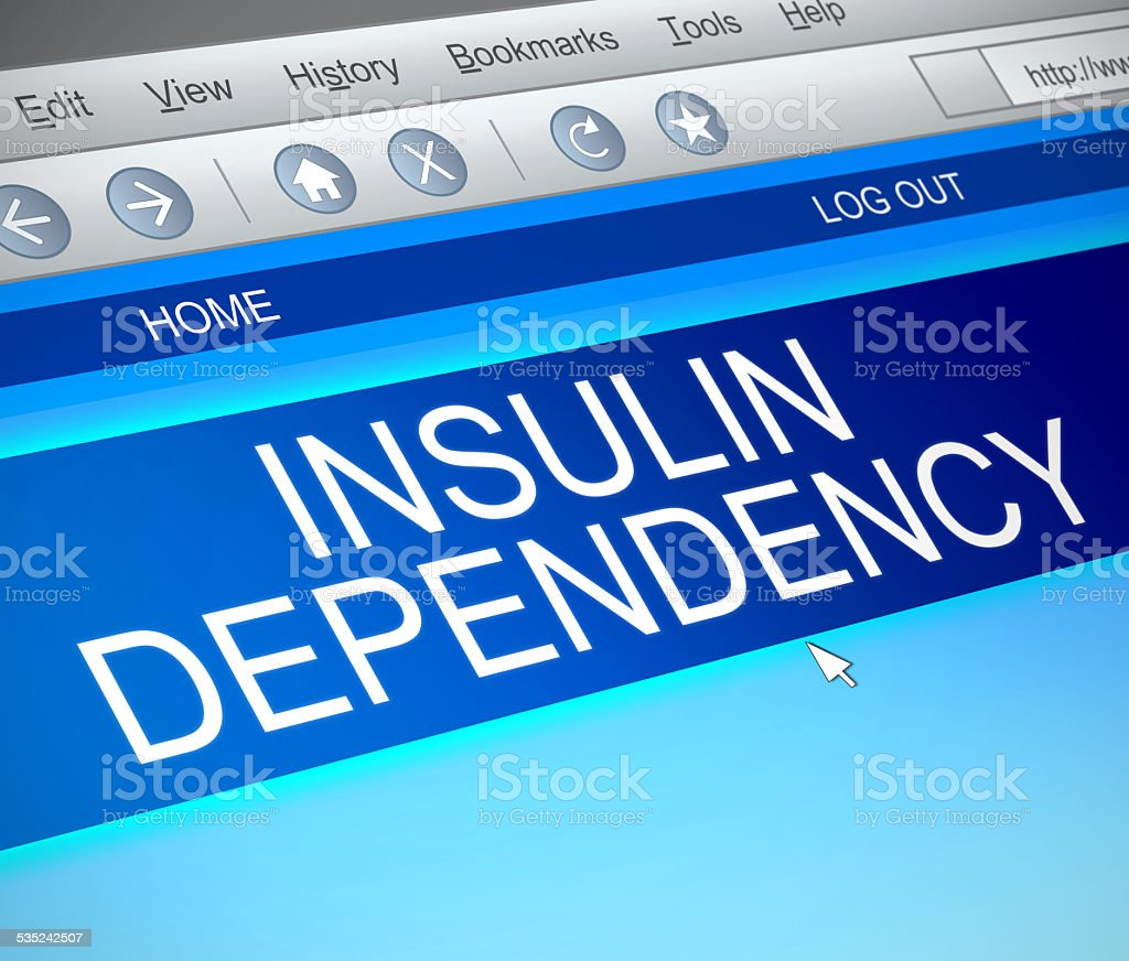 Insulin dependency concept. stock photo