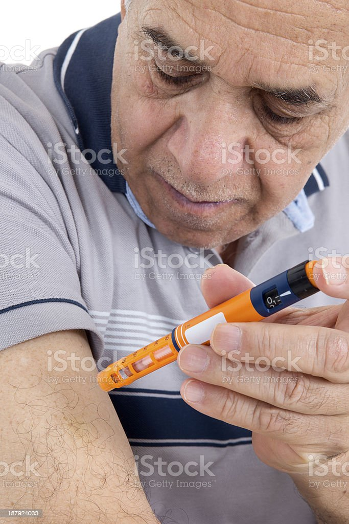 Insulin Injection stock photo