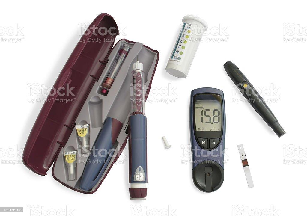 Insulin kit royalty-free stock photo