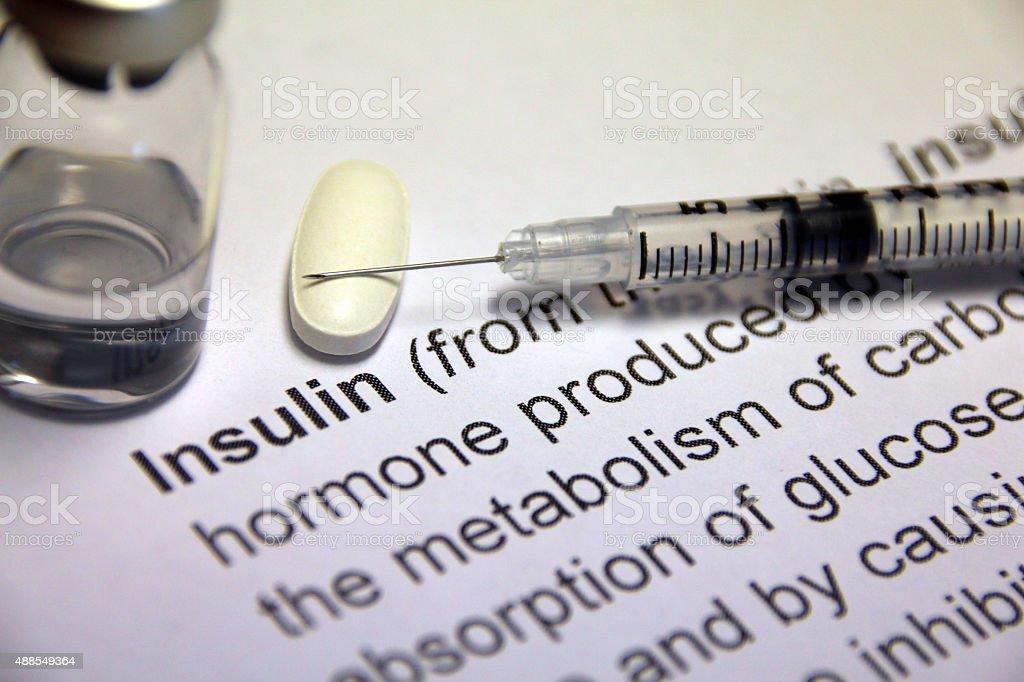 Insulin Medications stock photo
