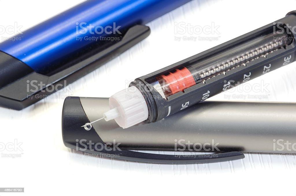Insulin pen stock photo