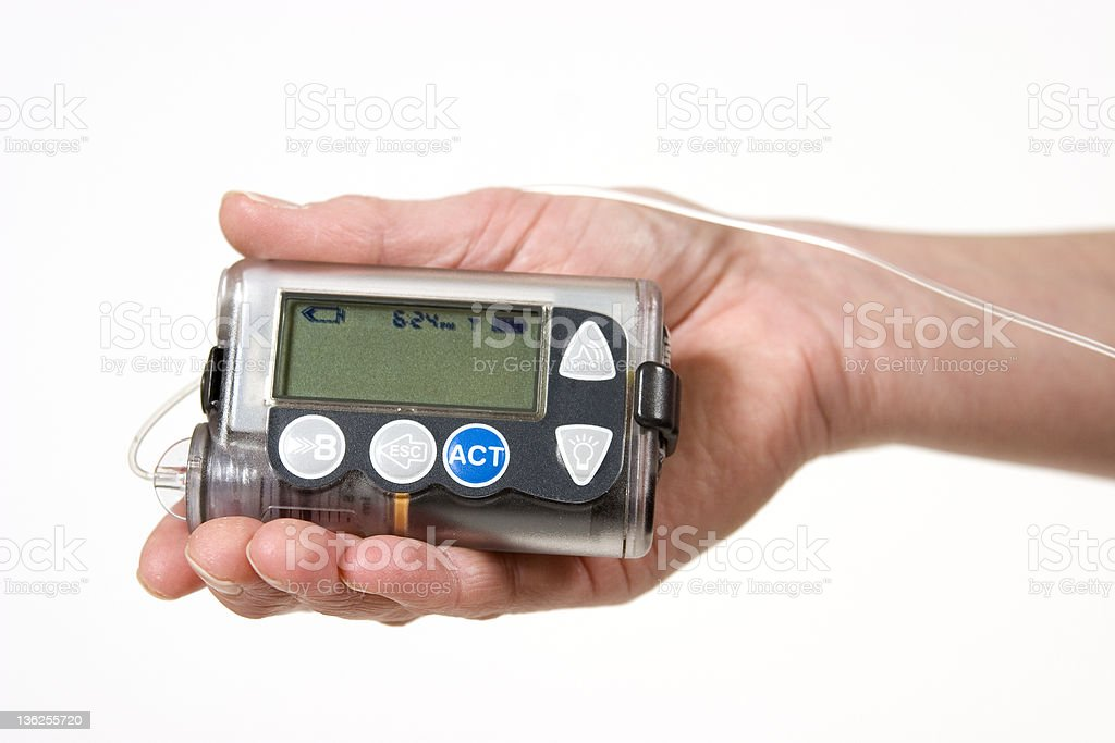 Insulin Pump stock photo