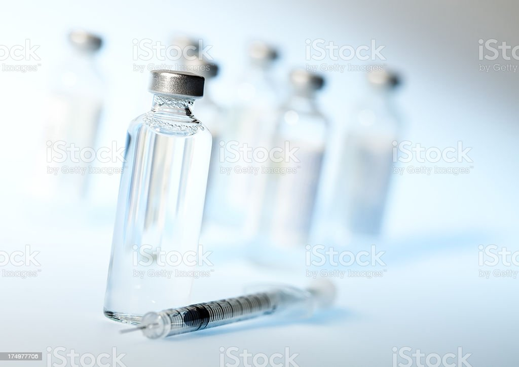 Insulin, syringe and sugar: diabetes concept royalty-free stock photo