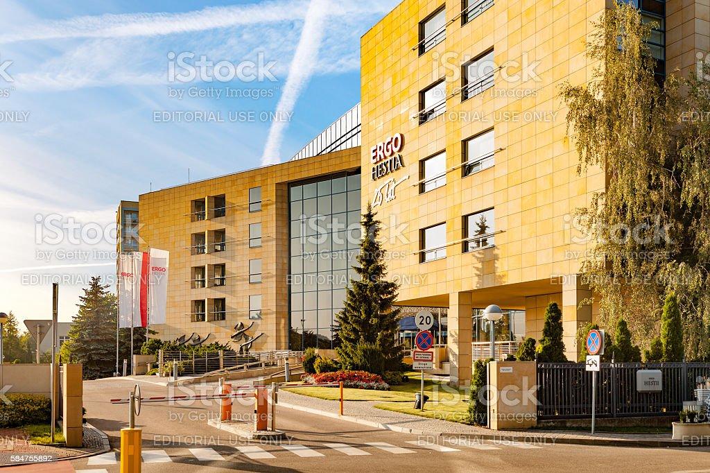 Insurance agency in Sopot stock photo