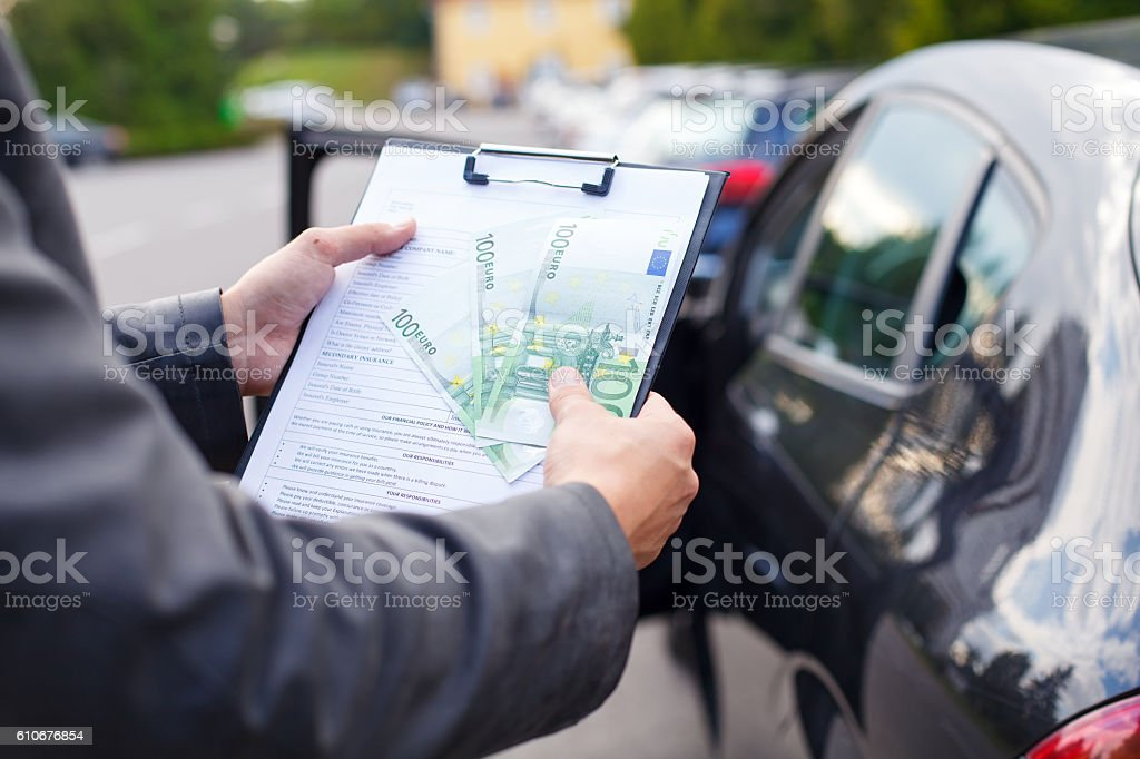 Insurance agent stock photo