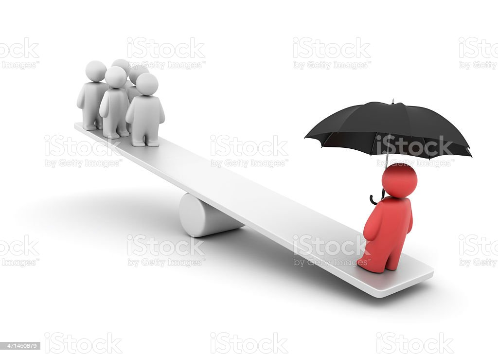 Insurance Balance royalty-free stock photo