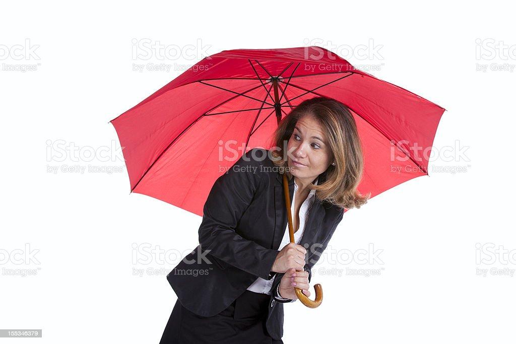 Insurance businesswoman stock photo