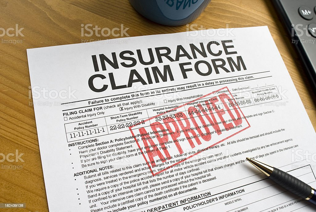Insurance Claim Form royalty-free stock photo