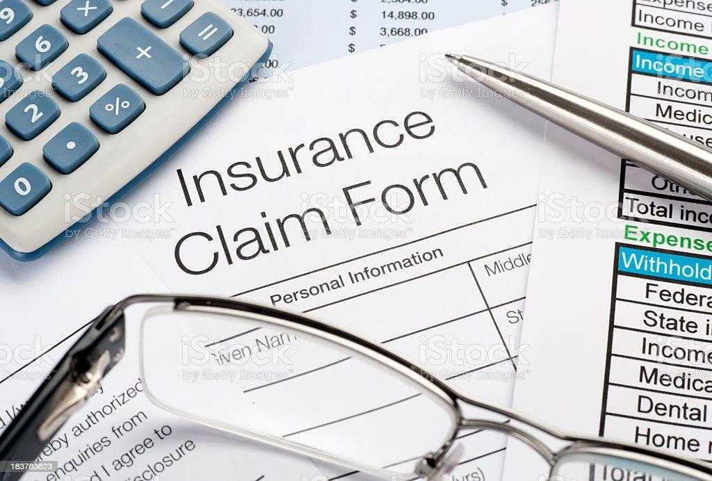 Insurance Claim stock photo