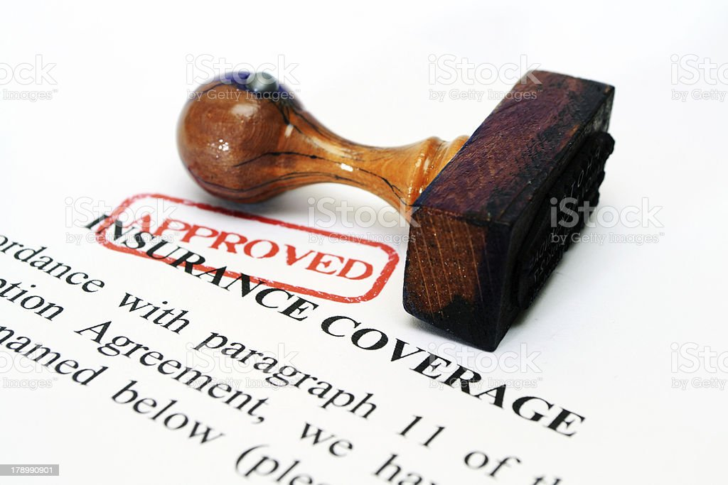 Insurance coverage stock photo