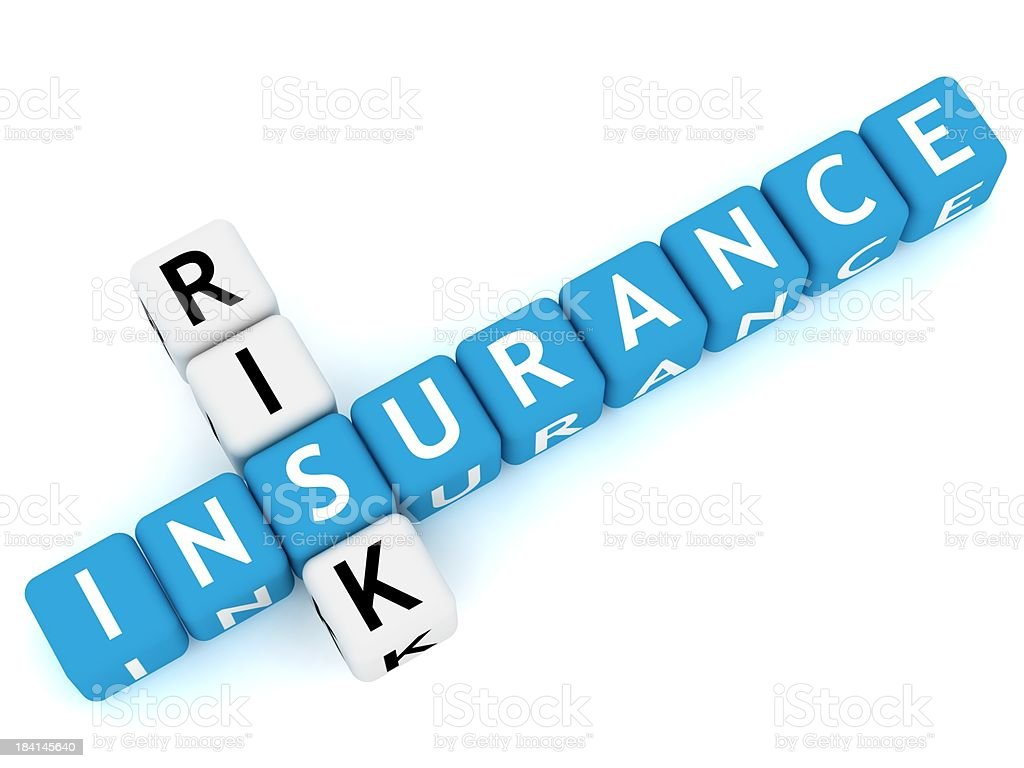 Insurance Crossword royalty-free stock photo