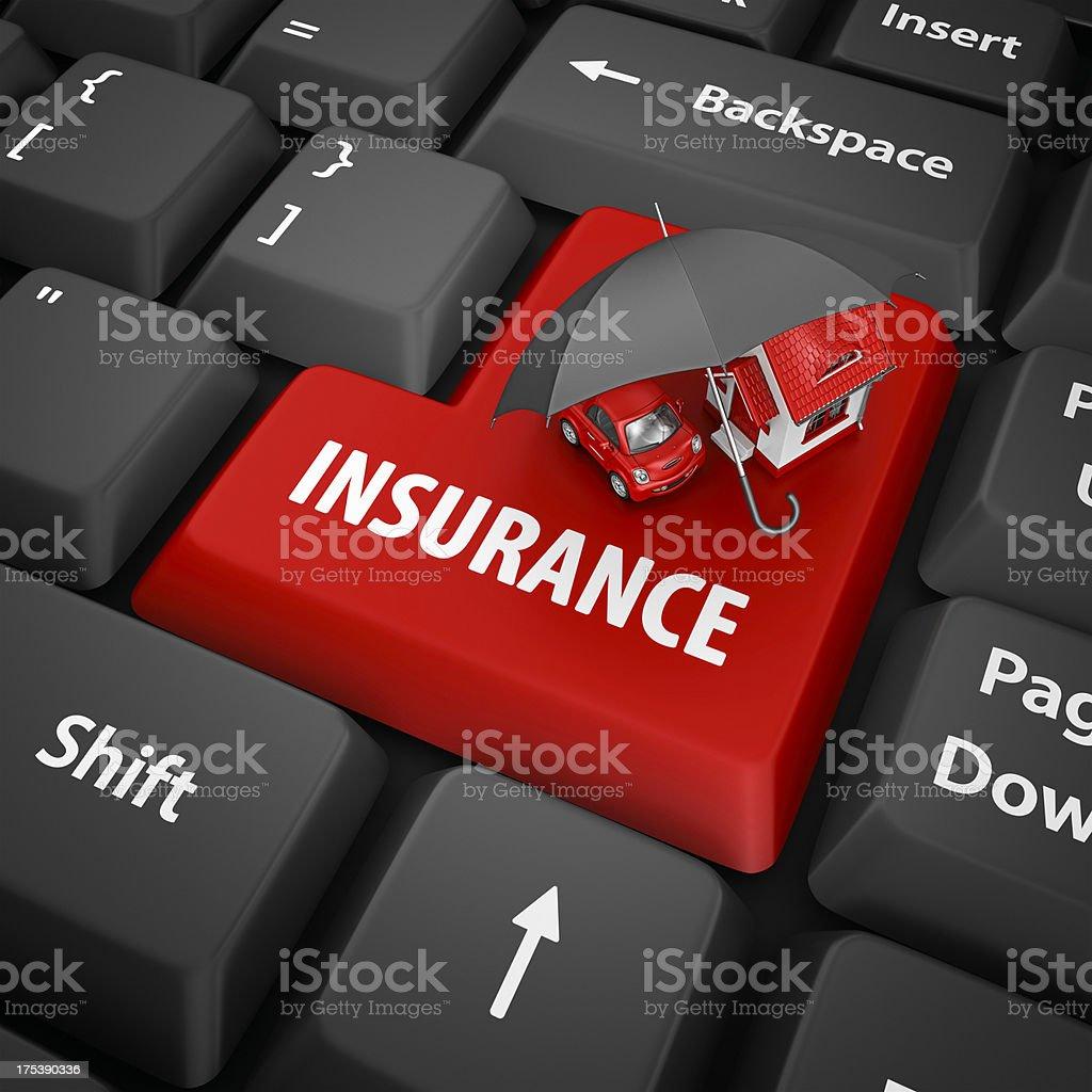 insurance enter key stock photo