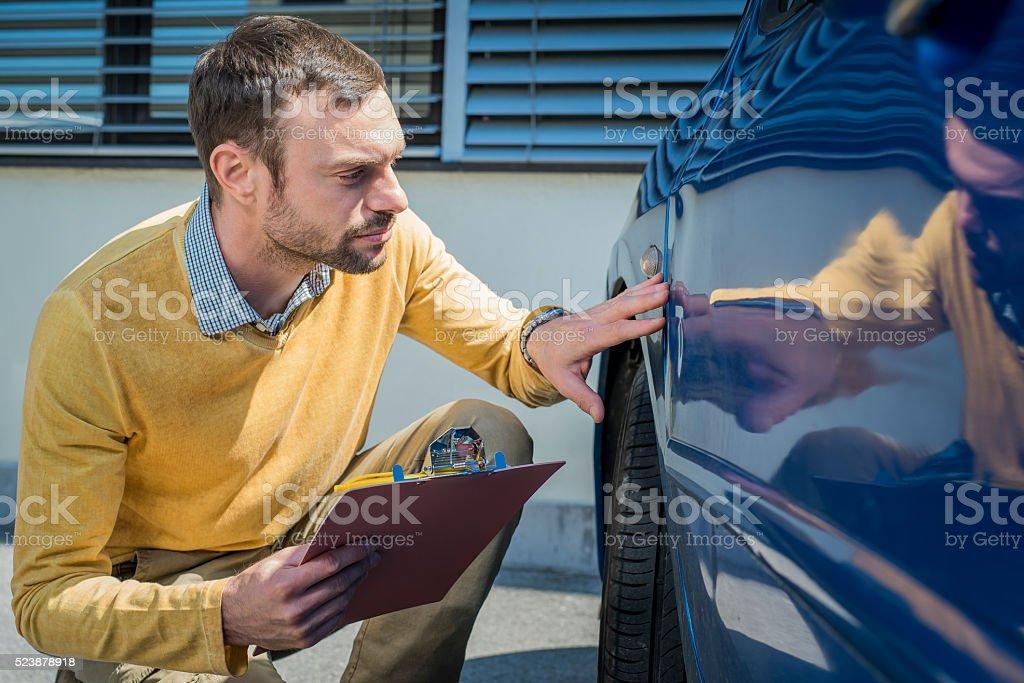 Insurance expert at work stock photo