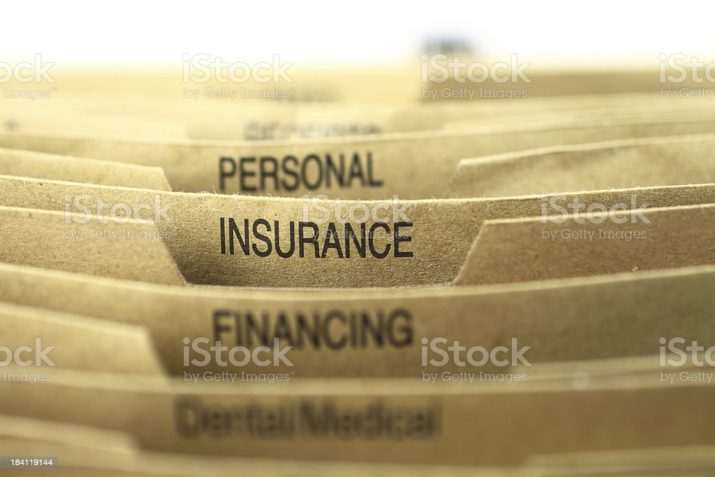 Insurance Filing stock photo