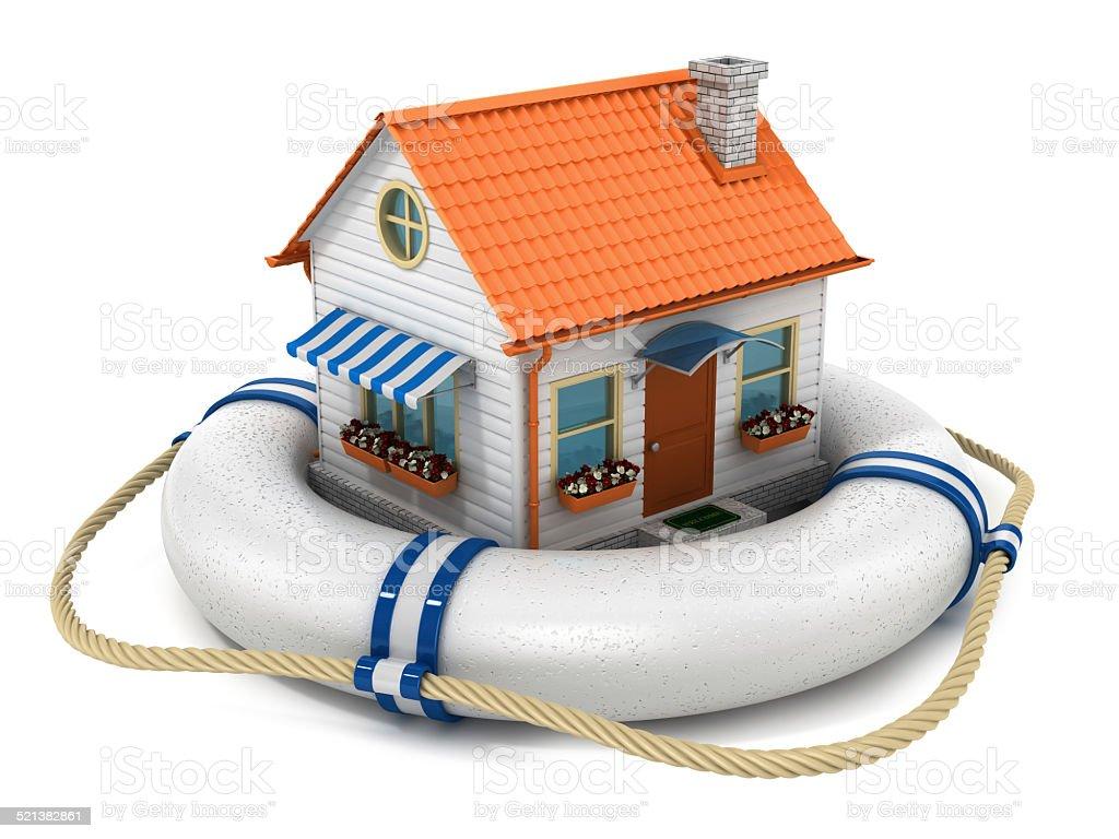 Insurance house concept. stock photo