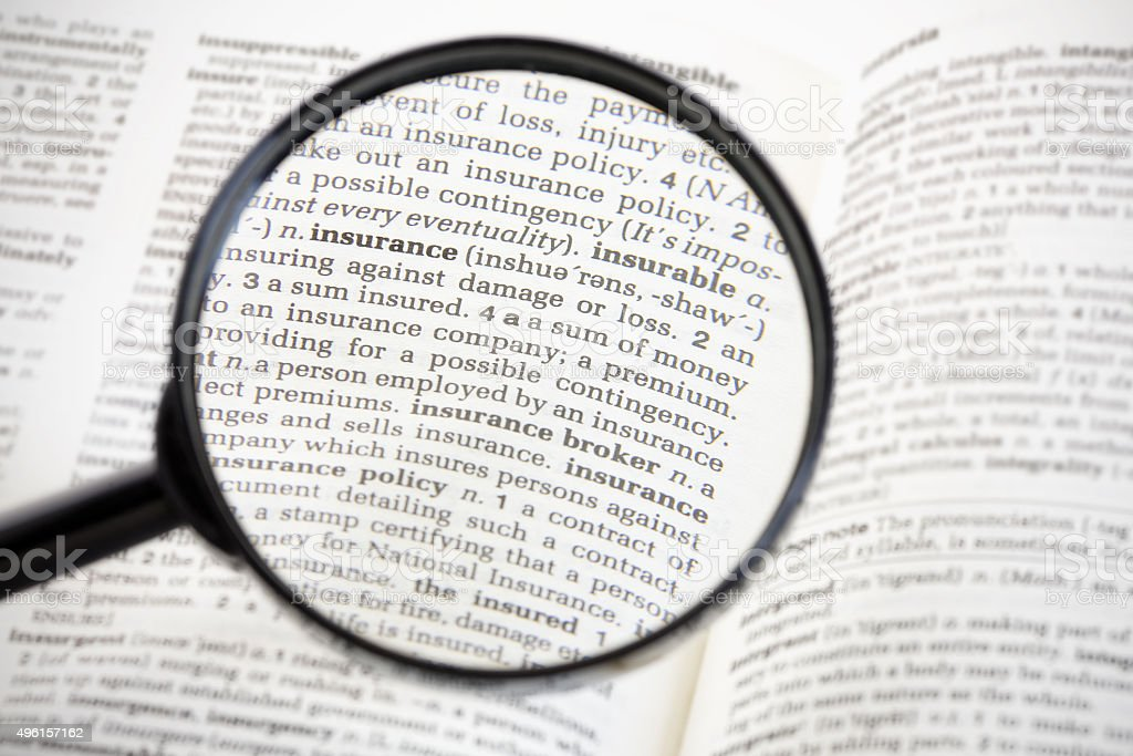 Insurance Magnified stock photo