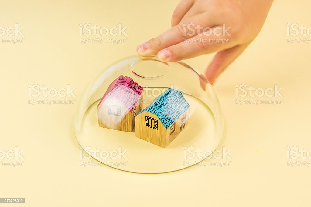 insurance of your house stock photo