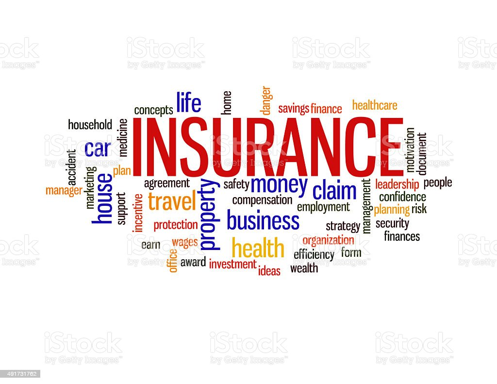 Insurance protection concept word cloud stock photo