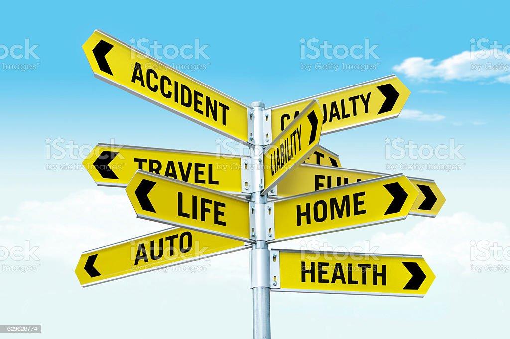 Insurance types stock photo
