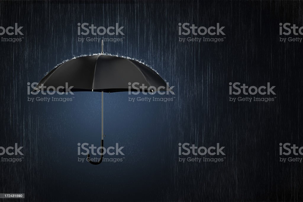 Insurance umbrella. Concept of safety business. royalty-free stock photo
