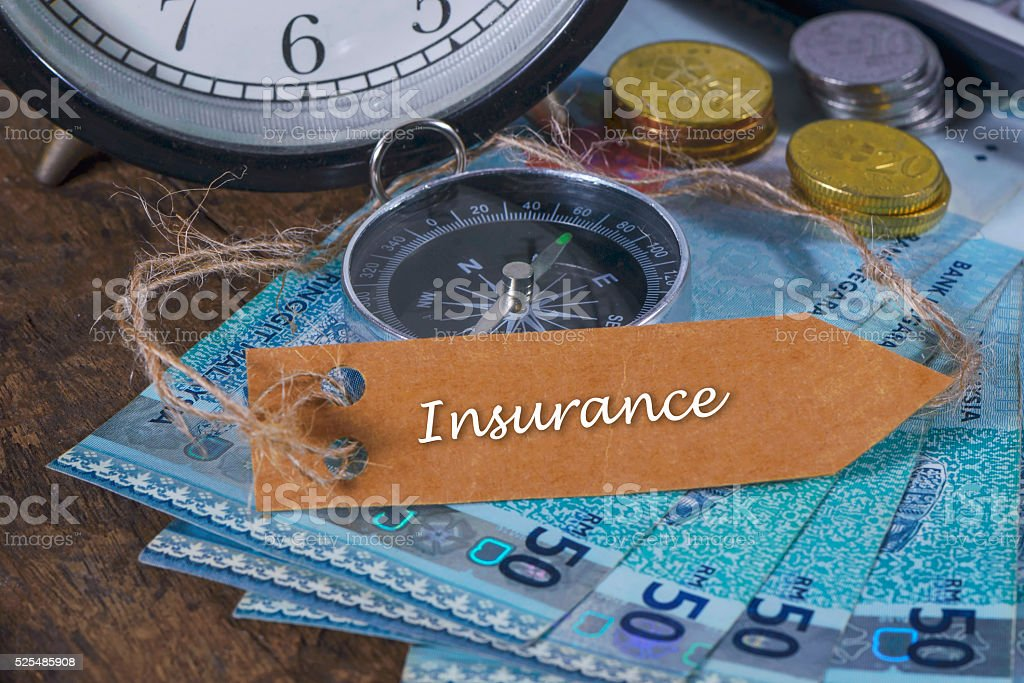 Insurance With Text Writting-Concept Photo. stock photo